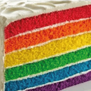 Rainbow Tower Cake