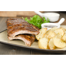 1/2 Rack of Spare Ribs Combo with Potato Wedges