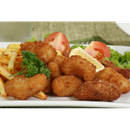 Scampi with Chips & Salad