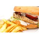 Chicken Fillet Burger Deluxe with Fries