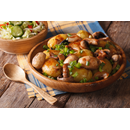 Spicy Potato & Garlic Mushrooms