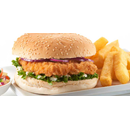 Chicken Sizzler Burger with Chips+